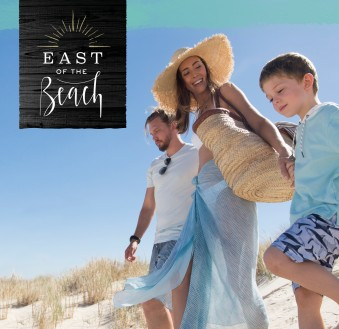 East of the Beach, Eglinton. Branding by Telltale Media.